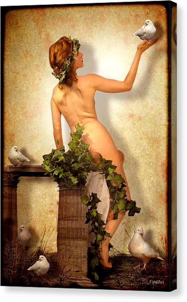 Divine Nymph Canvas Print