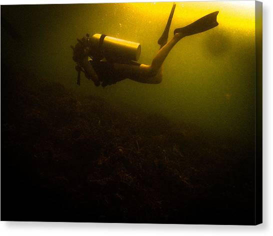 Diving Dark Canvas Print