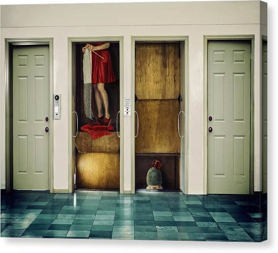 Hallway Canvas Print - Diving Deep by Ambra