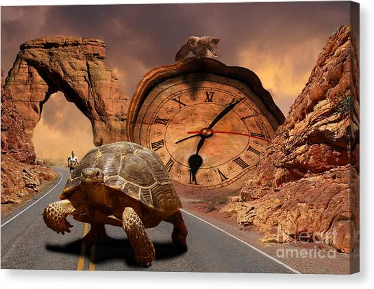 Division Of Time Canvas Print