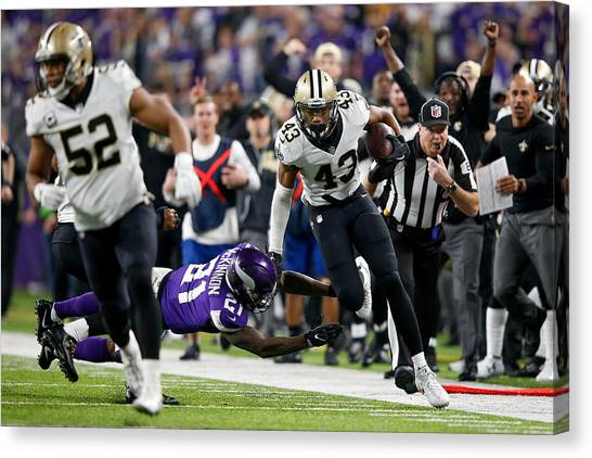 Divisional Round - New Orleans Saints V Minnesota Vikings Canvas Print by Jamie Squire