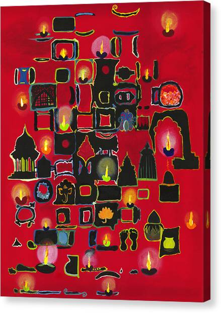 Diwali Diyas Canvas Print