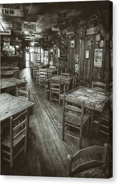 Metal Canvas Print - Dixie Chicken Interior by Scott Norris