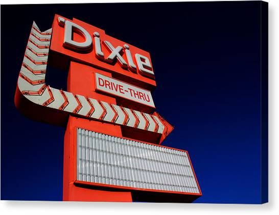 Canvas Print featuring the photograph Dixie Drive Thru by Kelly Hazel