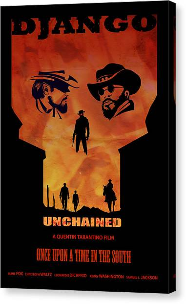 Spaghetti Canvas Print - Django Unchained Alternative Poster by Sassan Filsoof