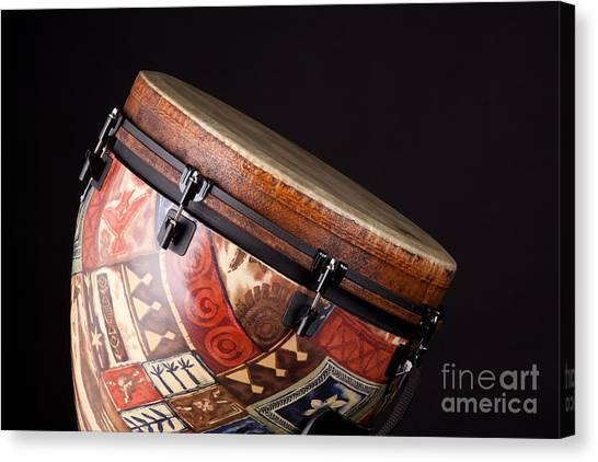 Djembe Canvas Print - Djembe Latin Or African Drum Photograph In Color 3331.02 by M K  Miller
