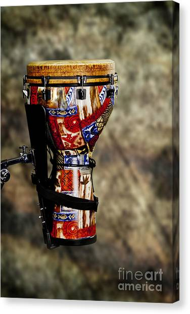Djembe Canvas Print - Djembe Or Djambe Africa Culture Drum In Color 3242.02 by M K  Miller