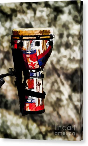 Djembe Canvas Print - Djembe Or Djambe Africa Culture Drum Painting 3243.02 by M K  Miller