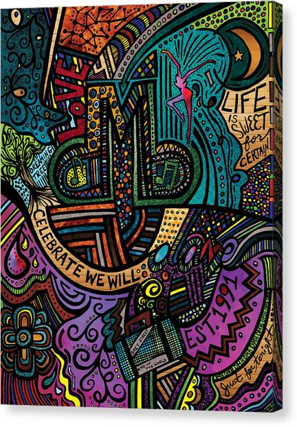 Bands Canvas Print - Dmb Love by Kelly Maddern