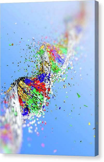 Molecular Biology Canvas Print - Dna Damage by Pasieka