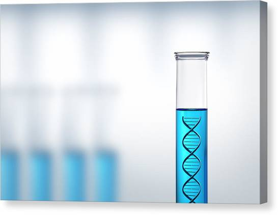Spiral Canvas Print - Dna Research Or Testing In A Laboratory by Johan Swanepoel