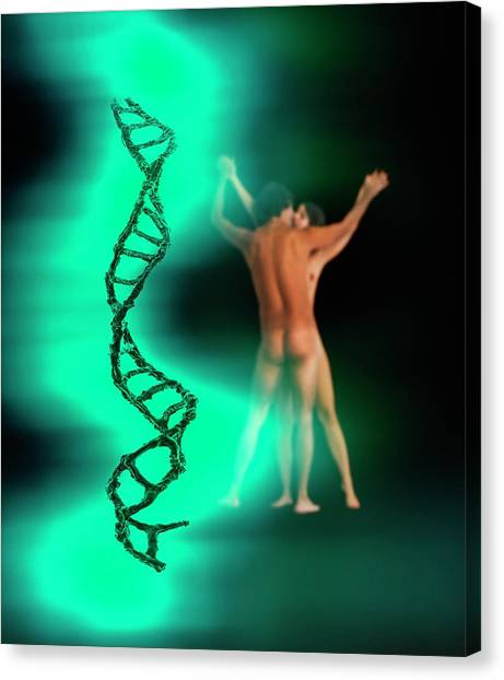 Biochemistry Canvas Print - Dna by Richard Kail