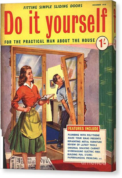 Do it yourself 1950s uk diy doors drawing by the advertising archives do it yourself 1950s uk diy doors canvas print by the advertising archives solutioingenieria Images