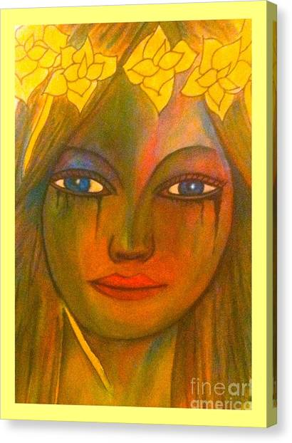 Do Not Cry Painting By Saribelle Rodriguez Canvas Print