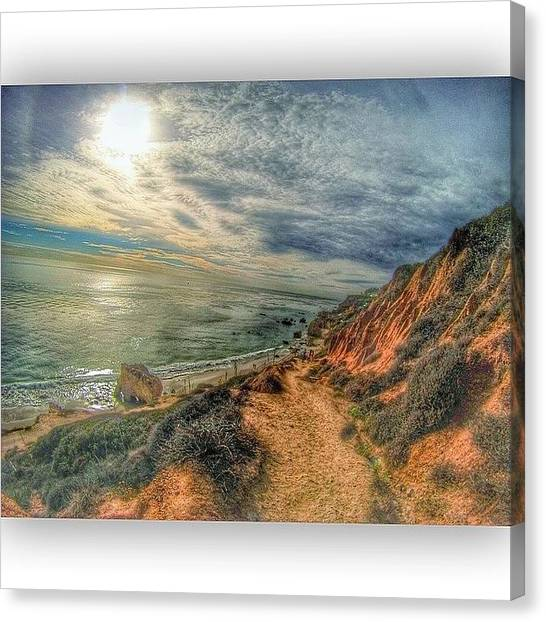 Beach Cliffs Canvas Print - do Not Go Where The Path May Lead, Go by Jason Spiewak