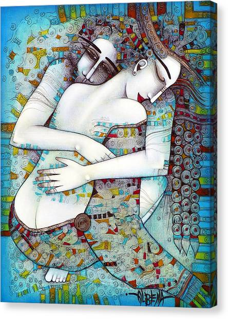 Blue Canvas Print - Do Not Leave Me by Albena Vatcheva