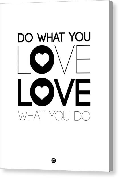 Hips Canvas Print - Do What You Love What You Do 4 by Naxart Studio