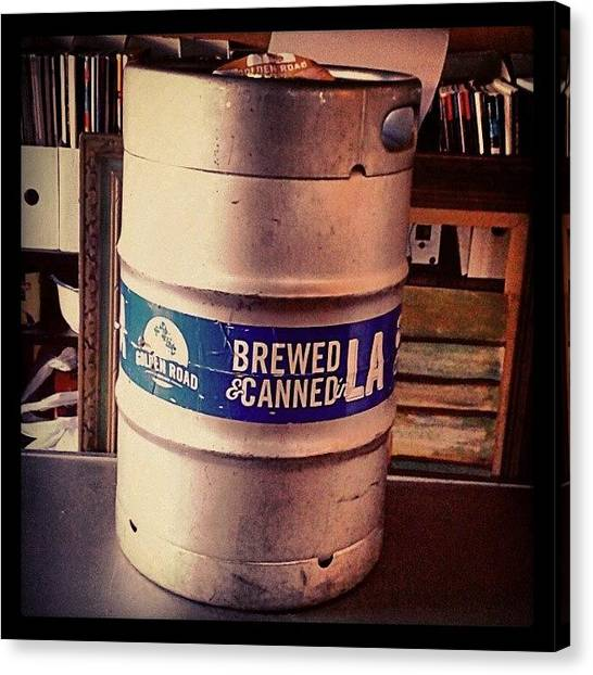 Keg Canvas Print - Do You Believe In #beerfairies?  by Melissa Eve