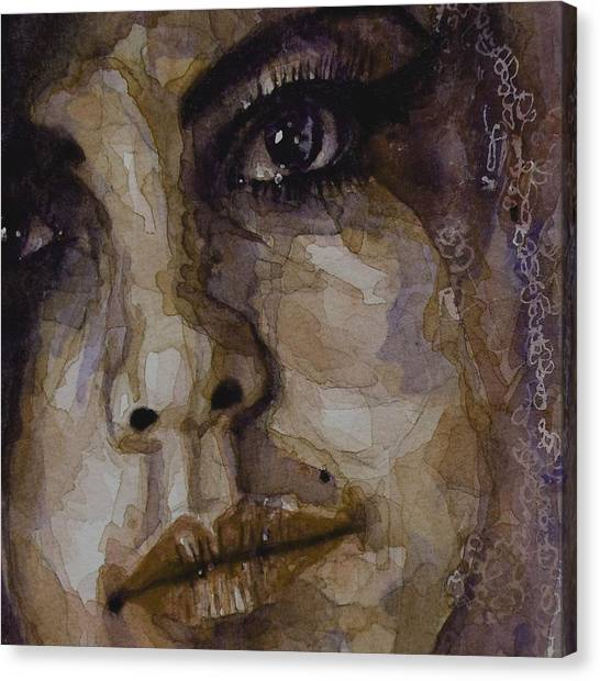 Lips Canvas Print - Do You Think Of Her When Your With Me by Paul Lovering
