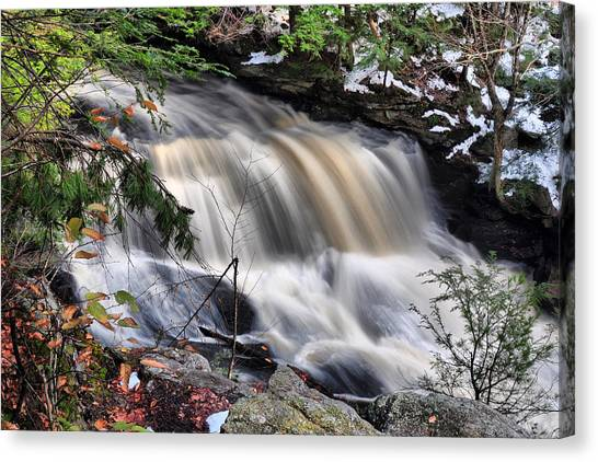 Doane's Lower Falls In Central Mass. Canvas Print
