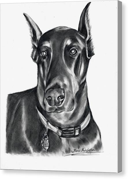Doberman Pincher Canvas Print