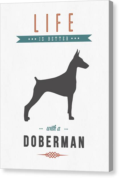 Doberman Pinschers Canvas Print - Doberman Pinscher 01 by Aged Pixel