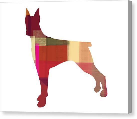 Doberman Pinscher Canvas Print - Doberman Pinscher by Naxart Studio