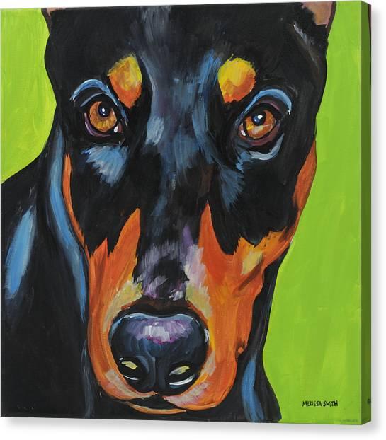 Doberman Pinschers Canvas Print - Doberman Pinscher by Melissa Smith