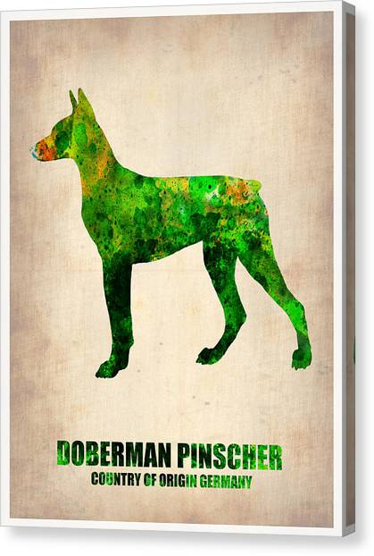 Doberman Pinschers Canvas Print - Doberman Pinscher Poster by Naxart Studio