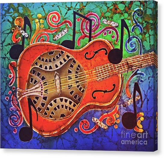Slide Guitars Canvas Print - Dobro-slide Guitar-2 by Sue Duda