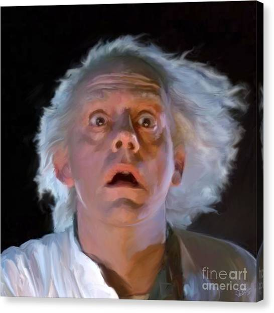 Back To The Future Canvas Print - Doc Brown by Paul Tagliamonte