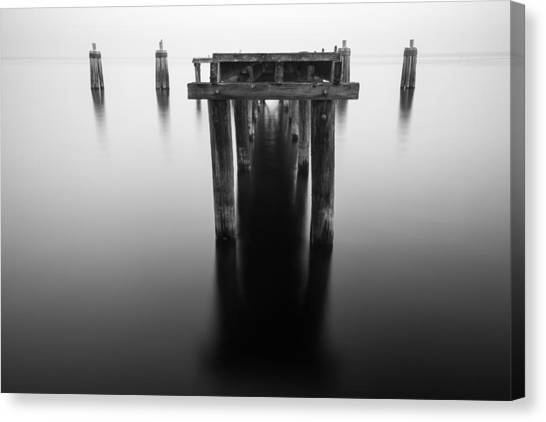 Dock At Twilight Canvas Print