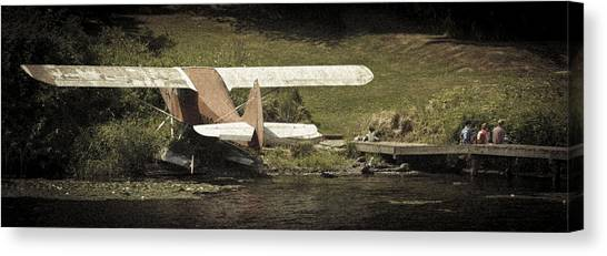 Seaplanes Canvas Print - Dock Of The Bay Panorama by Scott Campbell