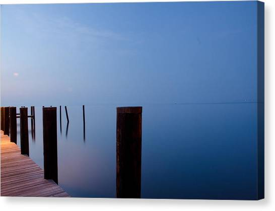 Dock Of The Morning Canvas Print