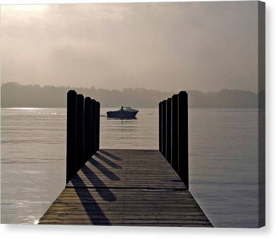 Dock Shadows Canvas Print