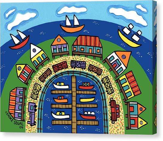 Dock Street-cedar Key Canvas Print