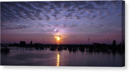 Dock Sunset Canvas Print