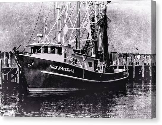 Docked Back Bay Canvas Print by Barry Jones