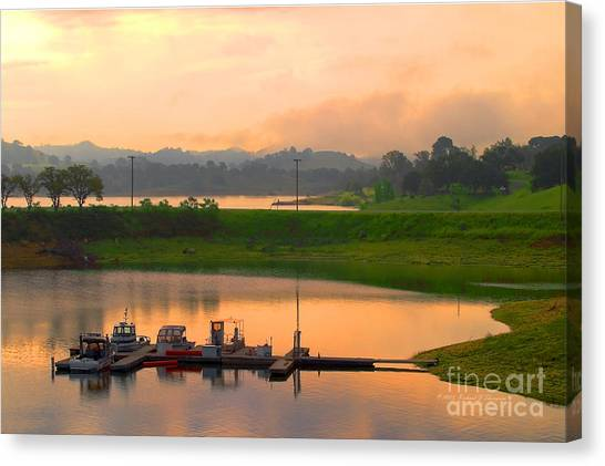 Docked Boats Canvas Print
