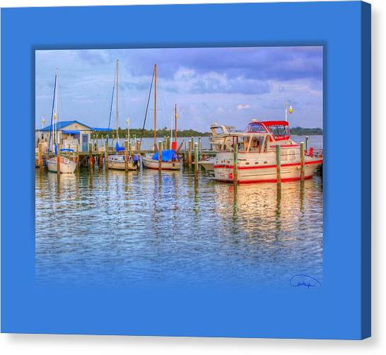 Docked For The Day Canvas Print by Tammy Thompson