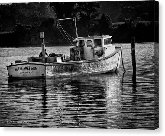 Docked For The Night Canvas Print by Glenn Thompson