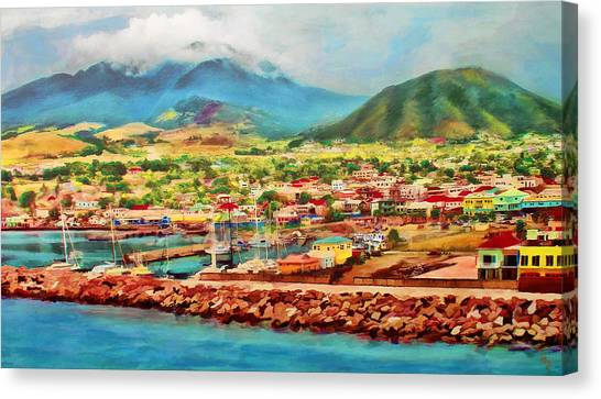 Docked In St. Kitts Canvas Print