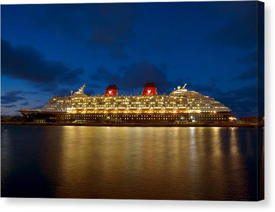 Docked In The Bahamas  C6j5497 Canvas Print