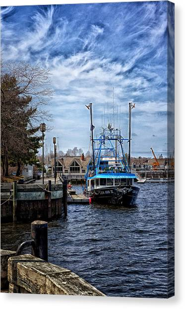 Docked Canvas Print