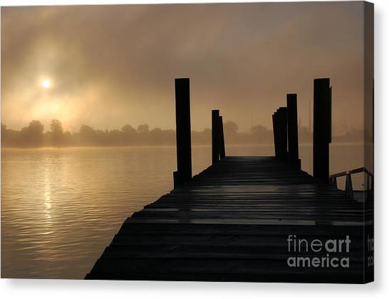 Dockside And A Good Morning Canvas Print