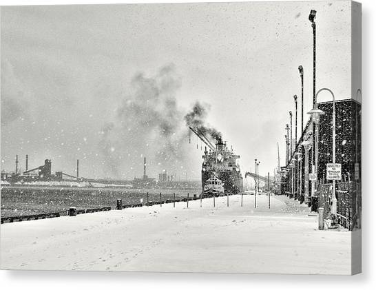 Canvas Print featuring the photograph Dockyard by Garvin Hunter
