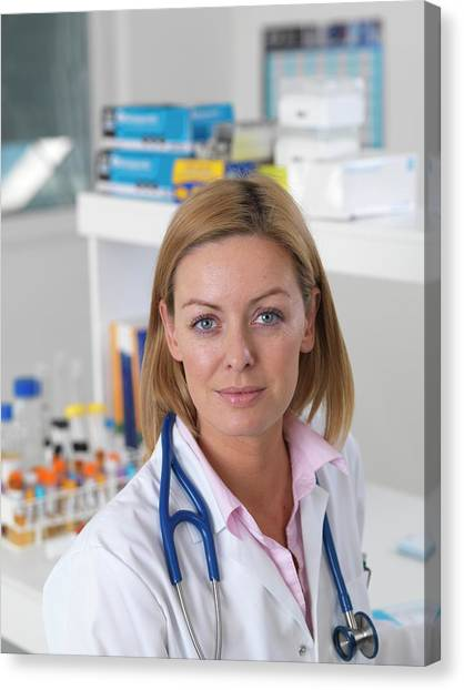 Health Care Canvas Print - Doctor In Clinic by Tek Image