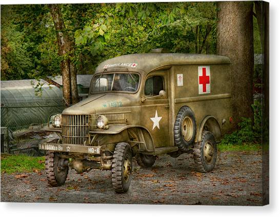 Green Camo Canvas Print - Doctor - Mash Unit  by Mike Savad