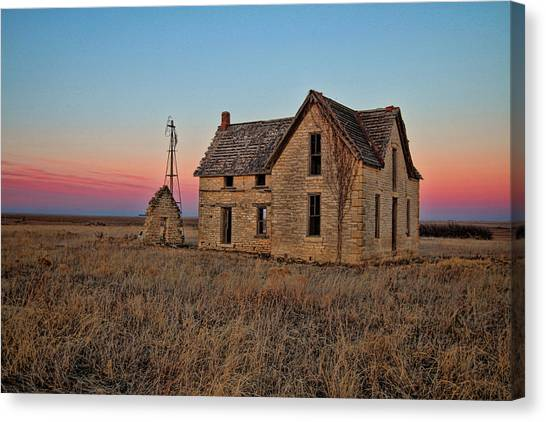 Prairie Sunsets Canvas Print - Doctor W.b. Jones House by Chris Harris