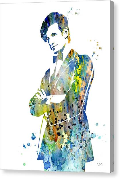 Doctor Who Canvas Print - Doctor Who 2 by Watercolor Girl